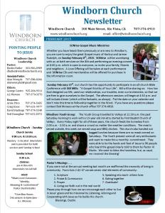 Windborn Newsletter Feb 2015