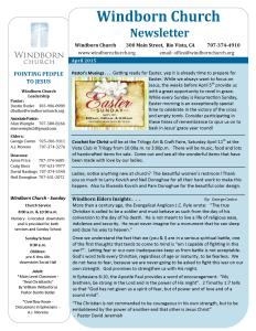 Windborn Newsletter Apr 2015