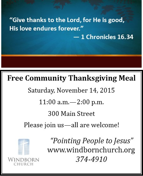 2015 Thanksgiving Community Meal